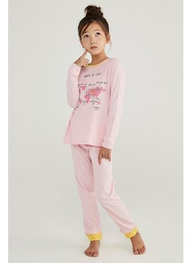 Penti Kız Çocuk Çok Renkli Cat Map 4'lü Pijama Takım PNH9G9KJ20SK Renkli
